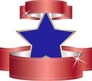 Blå stjärna Royaltyfria Bilder