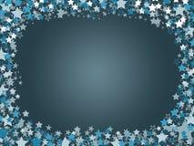 Blå stjärna på marinbakgrund Royaltyfri Fotografi