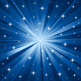 blå stjärnavektor för bakgrund Arkivbilder