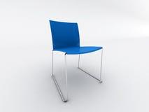 blå stol Arkivfoto