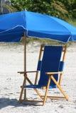 blå stol Royaltyfri Fotografi