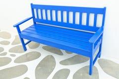 blå stol Royaltyfri Foto
