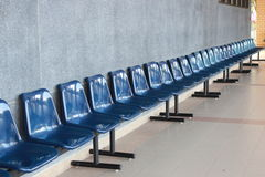 Blå stol Arkivfoton