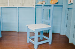 blå stolslokal Royaltyfri Bild