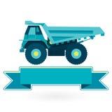 Blå stor lastbil - symbol Arkivbilder