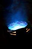 blå strålkastare Royaltyfria Bilder