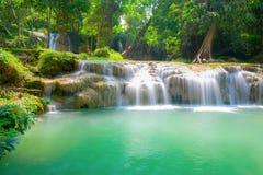 Blå strömvattenfall Royaltyfri Fotografi