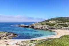 Blå strand fotografering för bildbyråer