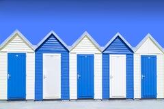 Blå strandkoja Royaltyfri Foto