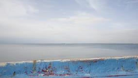 Blå strandsjösida Royaltyfri Fotografi