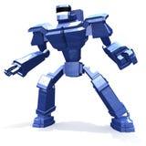 blå stridrobot Arkivfoton