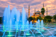 Blå Sultanahmet moské, Istanbul gammal stad, Turkiet Arkivfoto
