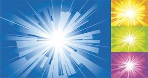 blå sunyellow för bakgrund Arkivfoto