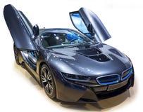 Blå supercar Fotografering för Bildbyråer