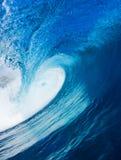 blå surfa wave Royaltyfri Foto