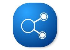 blå symbol för aktie vektor illustrationer