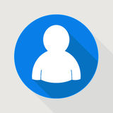 Blå symbol för användare Arkivbild