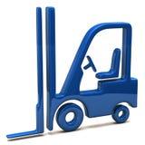 Blå symbol för elevatorlastbil Royaltyfri Bild