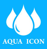 Blå symbol med liten droppe tre vektor illustrationer