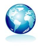 blå symbolsvärld stock illustrationer