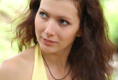 blå synad flicka Royaltyfria Bilder