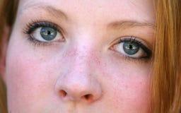 blå synad flicka Royaltyfri Fotografi