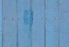 Blå tappning målad träpanelbakgrund fotografering för bildbyråer