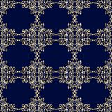 Blå tappningprydnad med blom- beståndsdelar Royaltyfri Fotografi