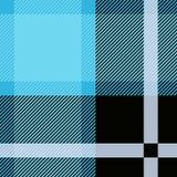 Blå tartan, sömlös modell för pläd Texturerad pläd Royaltyfri Fotografi