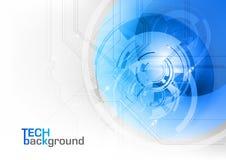 blå tech Arkivbilder