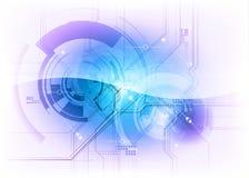 Blå tech Arkivfoto