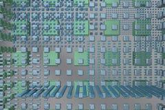 Blå techbakgrund Fotografering för Bildbyråer