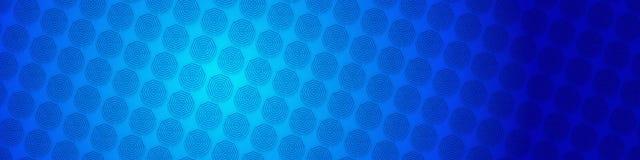 Blå techbakgrund med oktogon baserade cirkeln formar Royaltyfri Foto