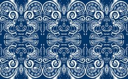 blå tegelplatta Arkivbilder