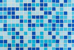 Blå tegelplattabakgrund Arkivfoto