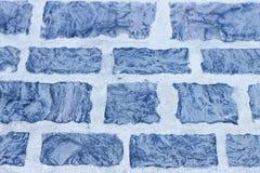 Blå tegelstentextur Arkivbilder