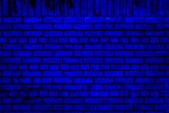 Blå tegelstenvägg Arkivbilder