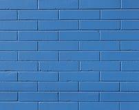 blå tegelstenvägg Fotografering för Bildbyråer