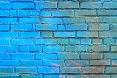 blå tegelstenvägg Royaltyfri Fotografi