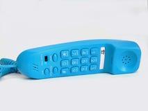 blå telefon royaltyfri fotografi
