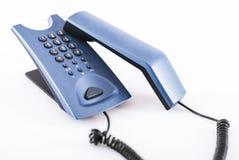 blå telefon Royaltyfri Bild