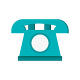 blå telefon, vektorillustration över vit bakgrund Royaltyfri Bild