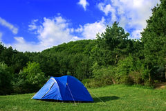 blå tent Royaltyfri Foto