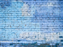 Blå textur för bakgrund för tegelstenvägg för design arkivbild