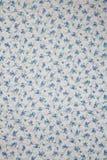 Blå textur för blommatygbakgrund Fotografering för Bildbyråer