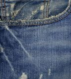 Blå textur för färggrov bomullstvillfack Fotografering för Bildbyråer