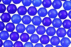 Blå textur för glass bollar Fotografering för Bildbyråer