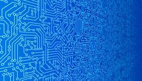 Blå textur för modell för strömkretsbräde Tekniskt avancerad bakgrund i digi royaltyfri illustrationer
