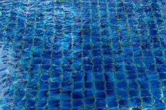 Blå textur för refraktion för simbassängvattenljus fotografering för bildbyråer
