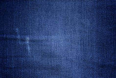 blå textur för torkdukedenimseam Royaltyfri Fotografi